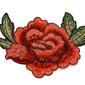 NASZYWKA APLIKACJA kwiat RÓŻA haft CZERWONA - haft II
