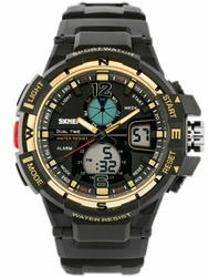 Męski zegarek Skmei AD1148 - elektroniczno-wskazówkowy zs021c