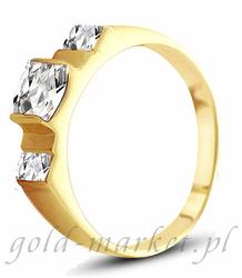 Pierścionek z żółtego złota AGP04G