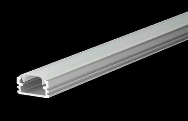 Profil aluminiowy nieanodowany + przesłona mleczna - M2