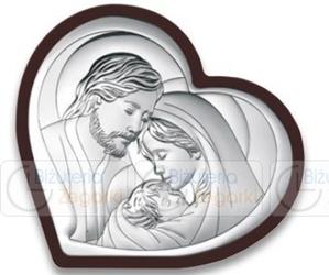 Obrazek BC64322WM Święta Rodzina na ciemnym drewienku13,8 x 12 cm.