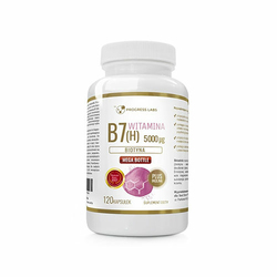 Progress Labs Vitamin B7 5000 mcg + Inulina 120 caps Biotyna
