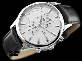 Czarno-biały zegarek meski na pasku JORDAN KERR - HERMAN zj048b