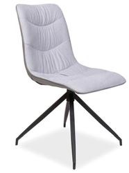 Krzesło skórzane Margo szary