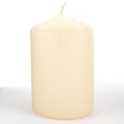 Kremowa świeca ozdobna - walec 100150 mm - 100150