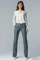 Jeansowe Klasyczne Eleganckie Spodnie z Prostymi Nogawkami
