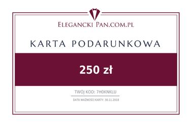 Karta podarunkowa do sklepu EleganckiPan.com.pl 250 zł