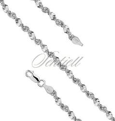 Łańcuszek ozdobny srebrny pr. 925 taśma skręcana z kulkami Ø 040 waga od 10,0g