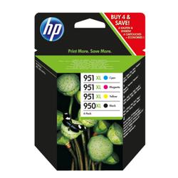 HP 950XL951XL zestaw 4 oryginalnych wkładów drukujących: czarnybłękitnypurpurowyżółty