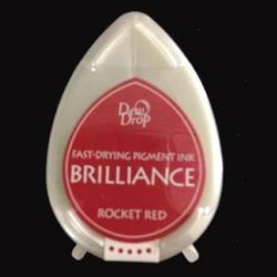 Tusz do stempli Brilliance Dew Drop - Rocket Red - CZE