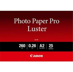Canon LU-101 Photo Paper Luster, foto papier, połysk, biały, A2, 16.54x23.39, 25 szt., 6211B026