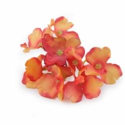 Mini kwiat wyrobowy HORTENSJA - pomarańczowy - pomarańczowy
