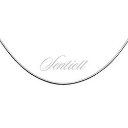 Linka srebrna pr.925 ośmiokątna Ø 015 waga od 1,5g - rodowana