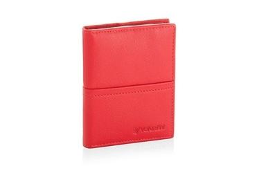 Etui na karty valentini black  red diamond 667 - czerwony