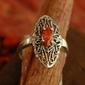 Yeste - srebrny pierścionek z granatem