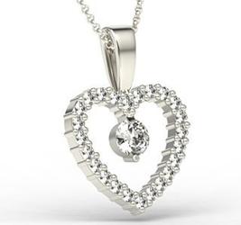 Wisiorek z białego złota z brylantami lpw-54b - białe  diament