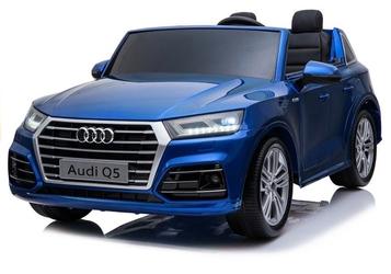 Duże dwuosobowe auto audi q5 xxl niebieski lakier metalik mp4 + pilot