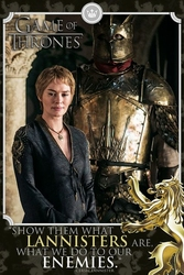 Game of Thrones Cersei Enemies - plakat z serialu