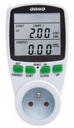 Watomierz licznik energii 2-taryfowy do gniazdka orno or-wat-408 - szybka dostawa lub możliwość odbioru w 39 miastach