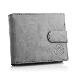 Klasyczny portfel betlewski bpm-gtn-63 szary
