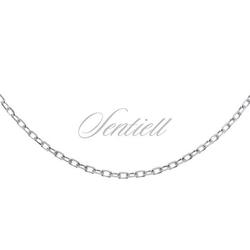 Łańcuszek srebrny 925 rolo diamentowany, rodowany - rodowanie  1,4 mm