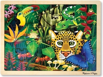 Las tropikalny drewniane puzzle