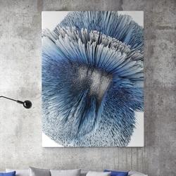 Modny obraz na płótnie - blue explosion , wymiary - 80cm x 120cm