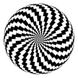 Naklejka samoprzylepna złudzenie optyczne spirali wektorowej