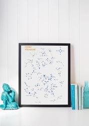 Niebo północne białe - mapa