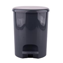 Kosz na śmieci do łazienki z pedałem omega 5 l szary