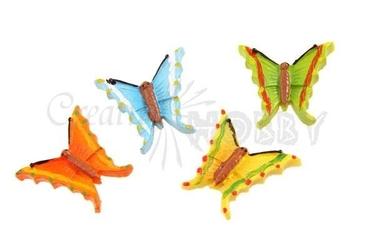 Dekoracyjne motyle do rękodzieła - zestaw