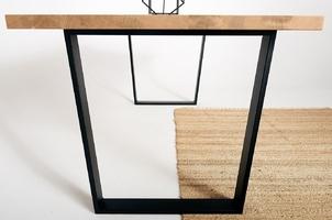 Nowoczesny dębowy stół durant na metalowych nogach  180x90 cm