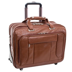 Skórzana torba męska biznesowa 2w1 mcklein west town 15704 - brązowy
