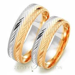 Obrączki ślubne złoty skorpion – wzór au-oe211