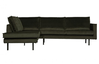 Be pure lewa sofa narożna rodeo ciemnozielony 800972-156