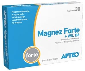 Magnez forte + wit. b6 apteo x 30 kapsułek