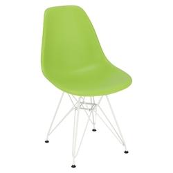 Krzesło p016 pp white zielone - zielony