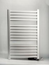 Grzejnik łazienkowy wetherby - elektryczny, wykończenie zaokrąglone, 400x800, białyral - biała
