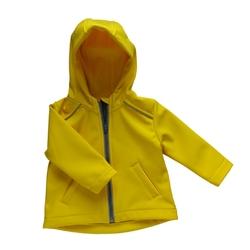 kurtka softshell żółta