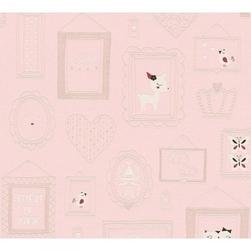 Tapeta ramki 36991-2 różowa winylowa na flizelinie