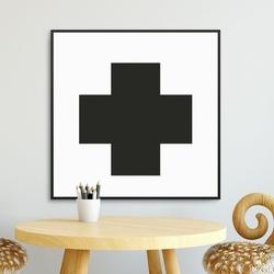 Little cross - plakat dla dzieci , wymiary - 70cm x 70cm, kolor ramki - biały