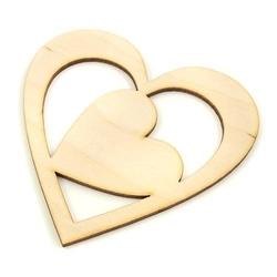 Serce w sercu 12x12 cm