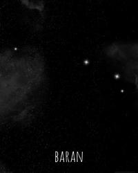 Baran konstelacja gwiazd - plakat