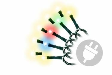 Lampki łańcuch świetlny świąteczny 200 led  wielokolorowe diody i ciepła biel