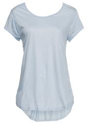 Shirt z głębokim dekoltem z tyłu bonprix pudrowy niebieski