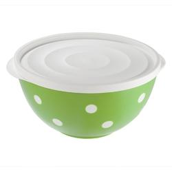 Salaterka  miska plastikowa z pokrywą dwukolorowa berossi 1,4 l zielona