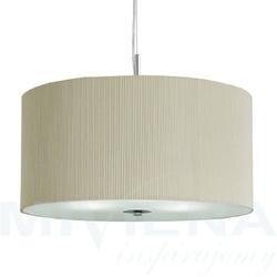 Drum pleat lampa wisząca 40 kremowy