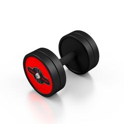 Hantla stalowa gumowana 12,5 kg czerwony połysk - marbo sport - 12,5 kg