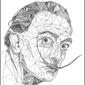 Geometryczny salvador dali - plakat wymiar do wyboru: 40x50 cm