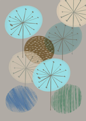 Kolorowe dmuchawce - plakat Wymiar do wyboru: 21x29,7 cm